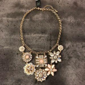 NWT INC Oversized Necklace With Rhinestones
